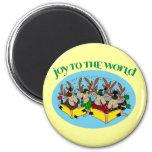 Reindeer Choir - Joy to the World Fridge Magnets