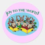 Reindeer Choir - Joy to the World Sticker