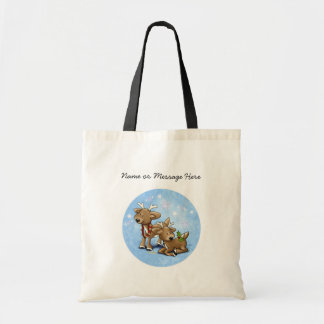 Reindeer Christmas Canvas Bags