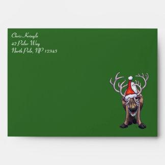 Reindeer Christmas Card Envelope