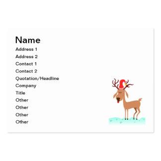 Reindeer Christmas cartoon Business Card Template