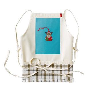 Reindeer Christmas decoration Zazzle HEART Apron