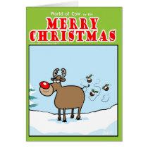 Reindeer Christmas flies Card