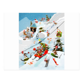 Reindeer Christmas Fun Postcard
