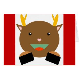 Reindeer Christmas/Holiday Card