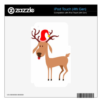 Reindeer Christmas Holidays Joy Decal For iPod Touch 4G