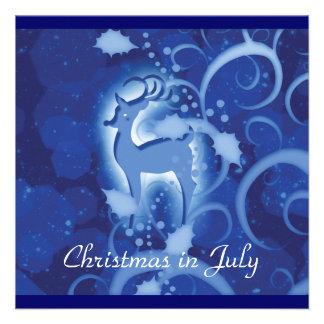 Reindeer Christmas July winter wonderland Invitations