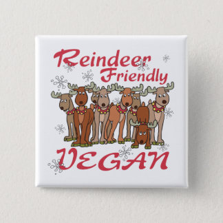 Reindeer Christmas Pinback Button