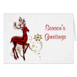 Elegant christmas greeting cards zazzle for Elegant christmas card messages