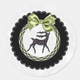 Reindeer Christmas Sticker