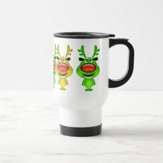 Reindeer Christmas travel commuter Travel Mug