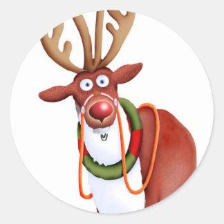 Reindeer Classic Round Sticker