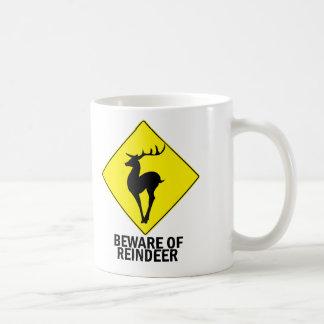 Reindeer Classic White Coffee Mug