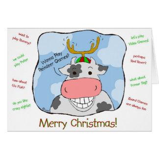 Reindeer Cow Card