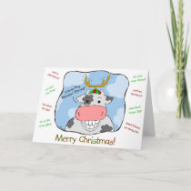 Reindeer Cow Holiday Card