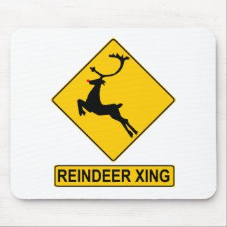 Reindeer Crossing Mouse Pad