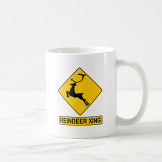 Reindeer Crossing Classic White Coffee Mug