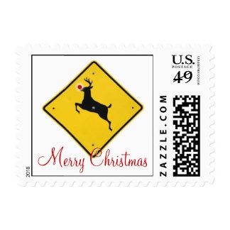 Reindeer Crossing Stamp