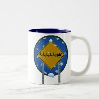 Reindeer Crossing Two-Tone Coffee Mug