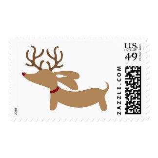 Reindeer Dachshund Christmas Postage USPS Stamps