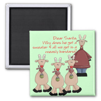 Reindeer Dear Santa Shirt Magnet