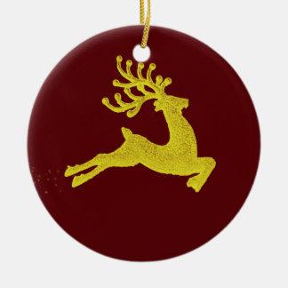 Reindeer decoration ceramic ornament