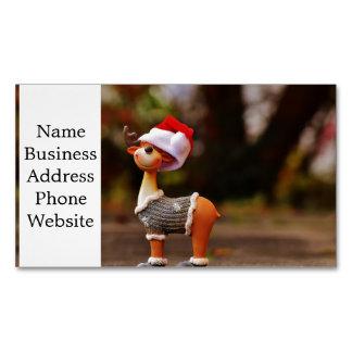 Reindeer decorations - christmas reindeer business card magnet