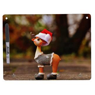 Reindeer decorations - christmas reindeer dry erase board with keychain holder