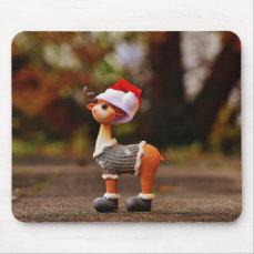 Reindeer decorations - christmas reindeer mouse pad