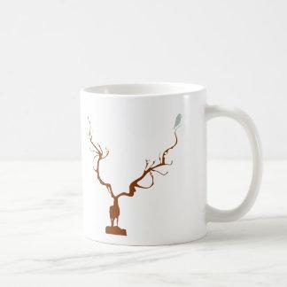 reindeer deer bird classic white coffee mug