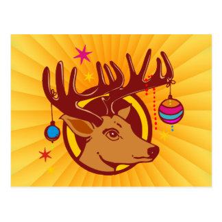 Reindeer / Deer / Christmas Postcard
