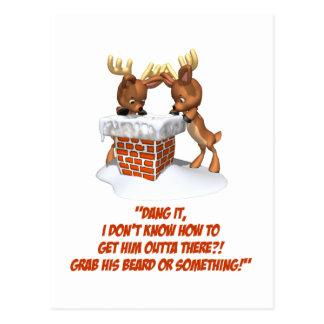Reindeer Dilemma Postcard