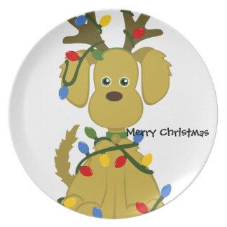 Reindeer Dog Cookie Plate