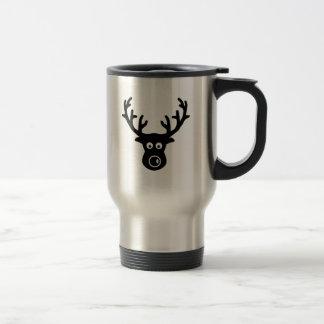 Reindeer face antlers coffee mugs