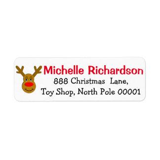 Reindeer Face Label