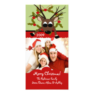 Reindeer Family Chirstmas Photo Card