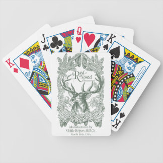 Reindeer Feed Bicycle Playing Cards