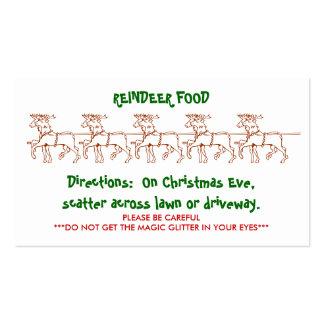 REINDEER FOOD - Customized 2 Business Card