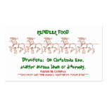 REINDEER FOOD - Customized 2 Double-Sided Standard Business Cards (Pack Of 100)