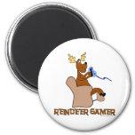 Reindeer Gamer Fridge Magnet