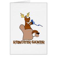 Reindeer Gamer Greeting Card