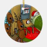 Reindeer games 2 christmas tree ornament