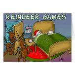 reindeer games 2 greeting card