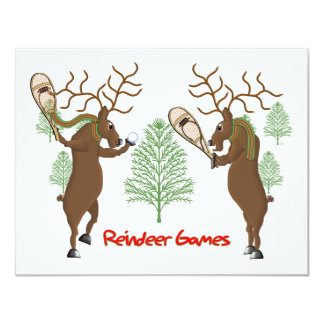 Reindeer Games 4.25x5.5 Paper Invitation Card