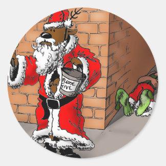 reindeer games 4 classic round sticker