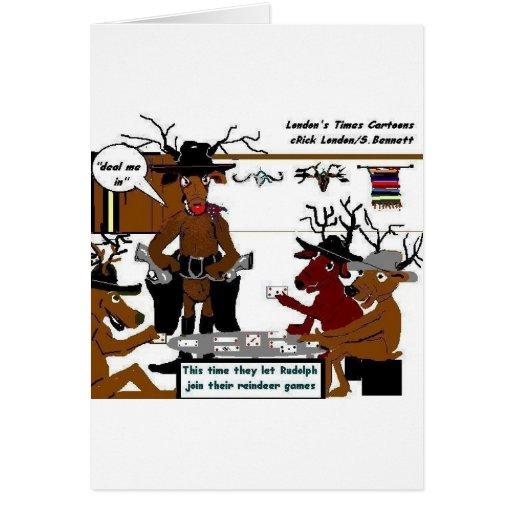 Reindeer games funny christmas gifts tees cards zazzle for Funny reindeer christmas cards