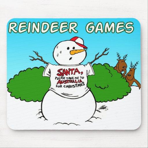 reindeer games mouse pad
