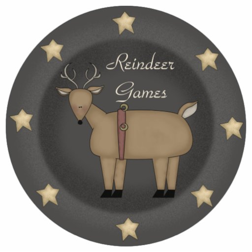 Reindeer Games Ornament Cut Out