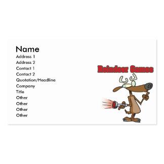 reindeer games phony rudolph cartoon business card template