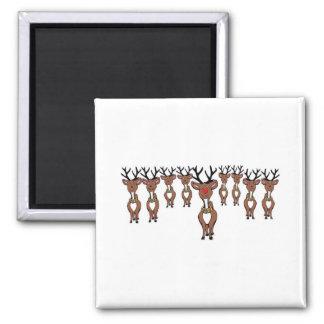 reindeer gang 2 inch square magnet